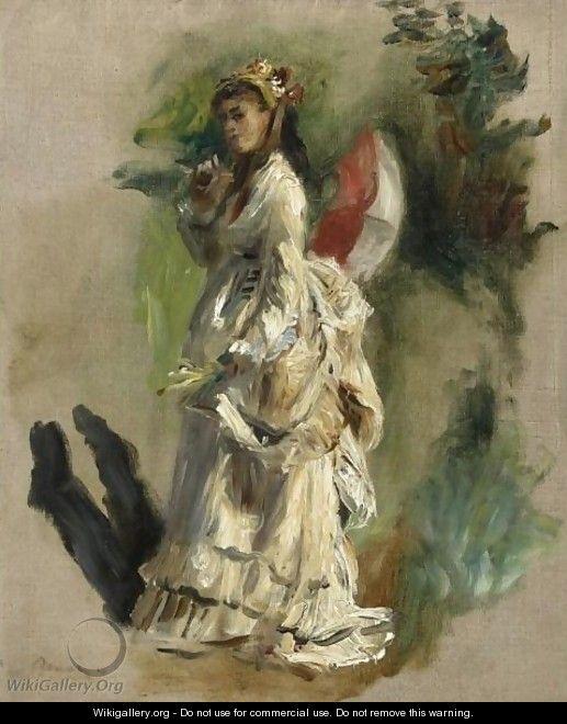 Jeune Femme A L'ombrelle by Pierre Auguste Renoir